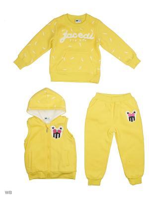 Жилет, толстовка и брюки Sago Kids i Ant Domain. Цвет: желтый
