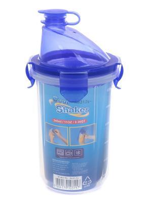 Шейкер герметичный 340 мл XEONIC CO LTD. Цвет: прозрачный, синий