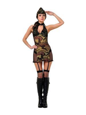 Комплект Военная академия LeFrivole. Цвет: хаки
