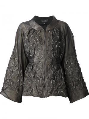 Куртка с тиснёным узором в форме зубов Iris Van Herpen. Цвет: серый