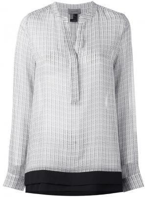 Двухслойная блузка Tony Cohen. Цвет: чёрный