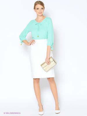 Блузка ARBOR VITAE. Цвет: бирюзовый