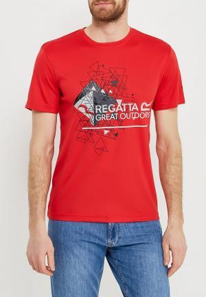 Футболка спортивная Regatta. Цвет: красный