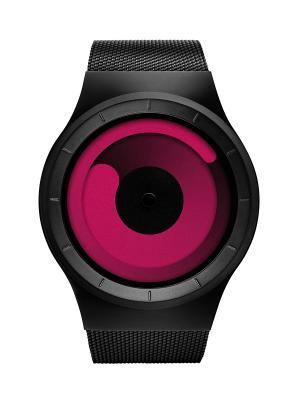 Наручные часы ZIIIRO Mercury Black - Magenta. Цвет: черный, розовый