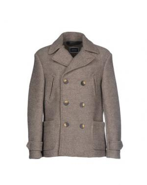 Пальто QUINTESSENCE. Цвет: бежевый
