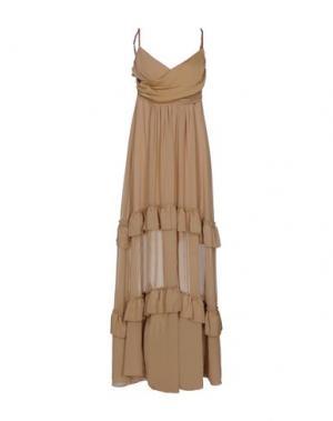 Длинное платье ANNARITA N.. Цвет: верблюжий