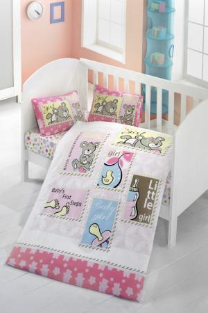 Комплект постельного белья Victoria. Цвет: pink, blue, beige, yellow