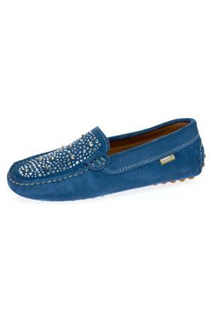 Мокасины Eli. Цвет: синий