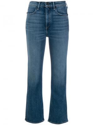 Укороченные брюки Dylan Rag & Bone /Jean. Цвет: синий