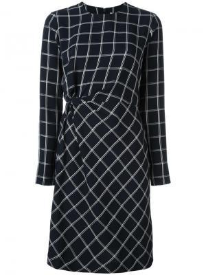 Приталенное платье с геометрическим рисунком Elizabeth And James. Цвет: синий