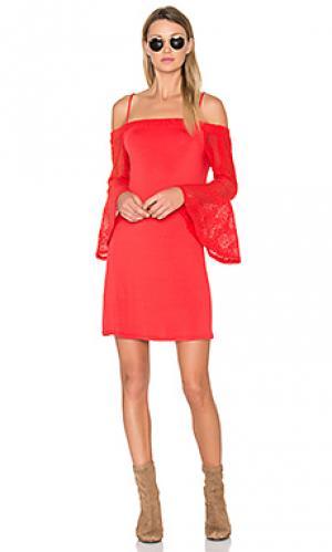 Платье annalia Ella Moss. Цвет: красный