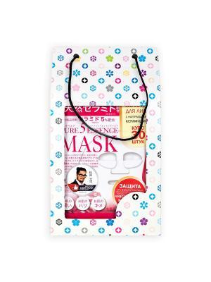 Маска с натуральными керамидами JAPAN GALS Pure5 Essential 30 шт в подарочной упаковкеАкаи. Цвет: красный, белый