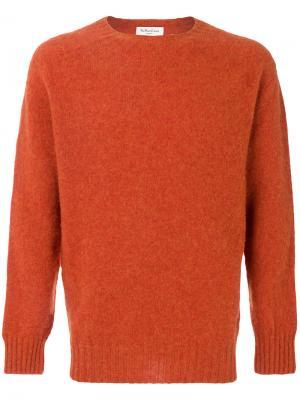 Джемпер с круглым вырезом YMC. Цвет: жёлтый и оранжевый