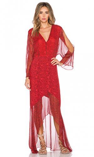 Макси платье gypset Twelfth Street By Cynthia Vincent. Цвет: красный