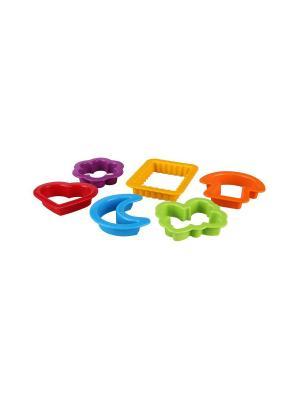 Набор детских формочек для песка (6 шт.) Альтернатива. Цвет: зеленый,фиолетовый,красный