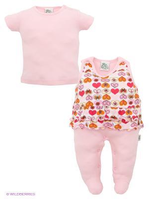 Комплект FS Confeccoes. Цвет: бледно-розовый