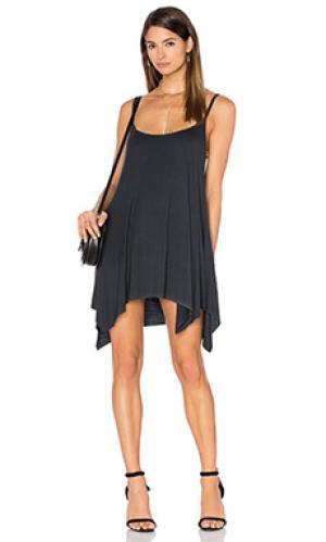 Платье-туника lang Michael Lauren. Цвет: уголь