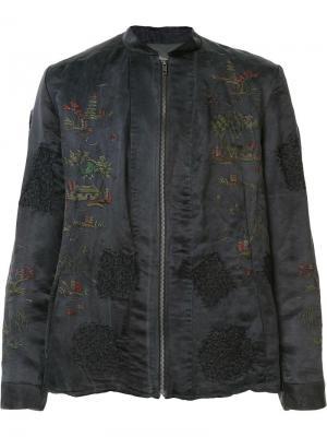 Куртка-бомбер с вышивкой By Walid. Цвет: чёрный
