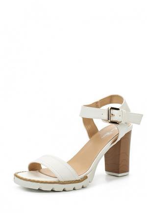 Босоножки Max Shoes. Цвет: белый