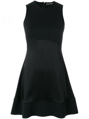 Расклешенное платье-мини без рукавов David Koma. Цвет: чёрный