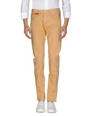 Джинсовые брюки REPLAY. Цвет: охра