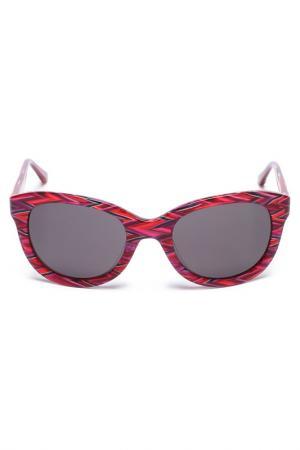 Очки солнцезащитные Missoni2. Цвет: бордовый микс