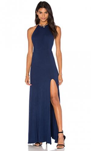Макси платье nikki De Lacy. Цвет: синий