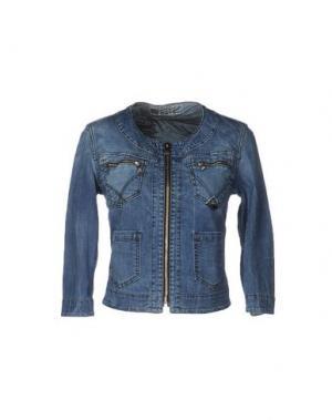 Джинсовая верхняя одежда ROŸ ROGER'S. Цвет: синий