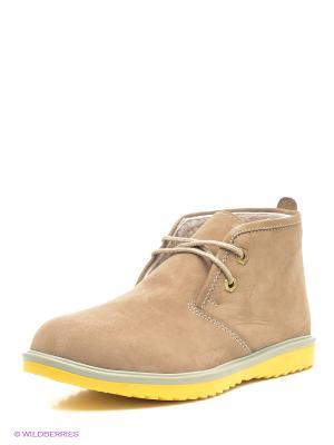 Ботинки Roccol. Цвет: бежевый