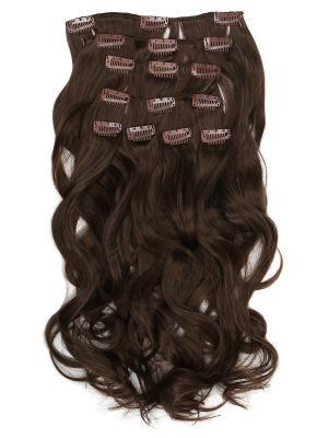 Накладные волосы, пряди на заколках-клипсах Livi VIP-PARIK. Цвет: коричневый