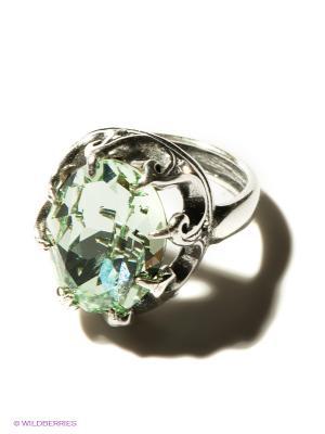 Кольцо Jenavi. Цвет: светло-зеленый, серебристый