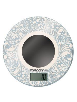Весы кухонные  MAXIMA МS-067 (Орнамент). Цвет: кремовый