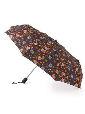 Зонт женский автомат Fulton. Цвет: коричневый