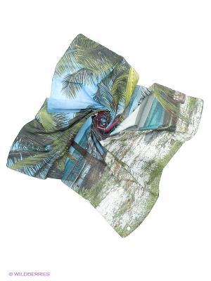 Платок Yerse. Цвет: зеленый, голубой, малиновый
