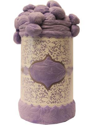 Плед, дизайн Бубон, 210х220 Dorothy's Нome. Цвет: фиолетовый, светло-бежевый