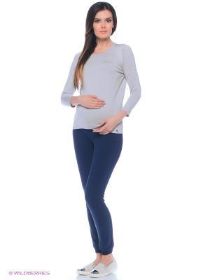 Брюки для беременных FEST. Цвет: темно-синий