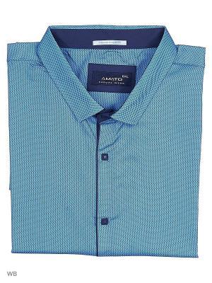 Рубашка AMATO. Цвет: синий, темно-синий