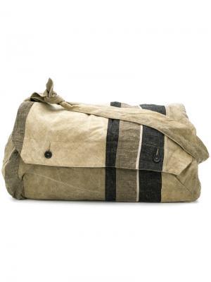 Большая дорожная сумка Ziggy Chen. Цвет: зелёный