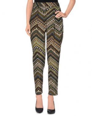Повседневные брюки KAOS JEANS. Цвет: зеленый