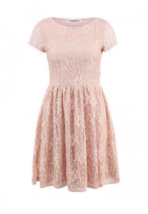 Платье Amplebox. Цвет: розовый