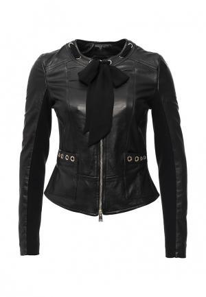 Куртка кожаная Atos Lombardini. Цвет: черный
