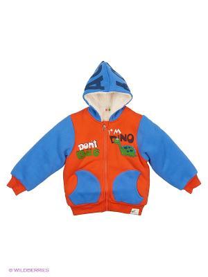 Куртка Kidly. Цвет: оранжевый, синий