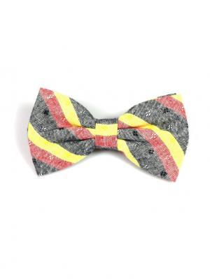 Галстук-бабочка Churchill accessories. Цвет: черный, серый, бордовый, коричневый, темно-серый, светло-оранжевый, светло-желтый, оранжевый, желтый, белый