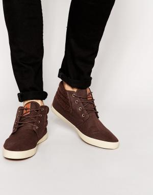 Ones + Twos Chukka Boots in Brown With Herringbone. Цвет: коричневый