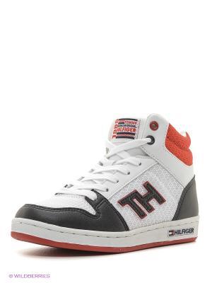 Кроссовки Tommy Hilfiger. Цвет: белый