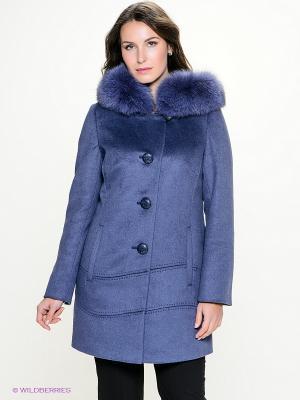 Пальто Electrastyle. Цвет: серо-голубой