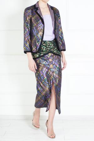 Жакет из хлопка и полиметалла Marc Jacobs. Цвет: фиолетовый