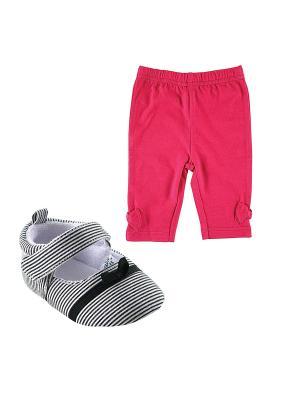 Комплекты Лосины, 1 пара, + Пинетки , Luvable Friends. Цвет: розовый, черный