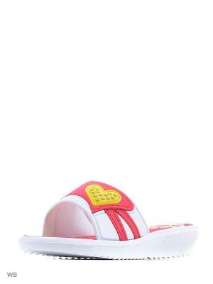 Шлепанцы Effa. Цвет: красный, белый