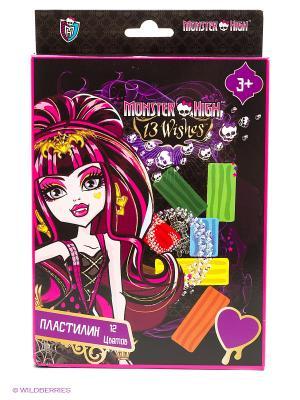 Пластилин Monster High 12 цветов Centrum. Цвет: черный